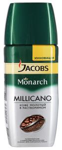 "Кофе ""Jacobs"" Monarch Millicano молотый в растворимом, 190г"