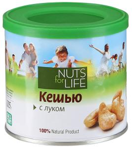 "Кешью ""Nuts for life"" с луком, 115г"