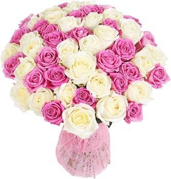 Фото розы розовые букет