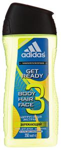 Гель для душа Adidas Team Five Hair&Body Shower 2в1, для мужчин 250 мл.