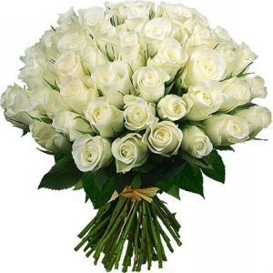 Белые розы с днем рождения