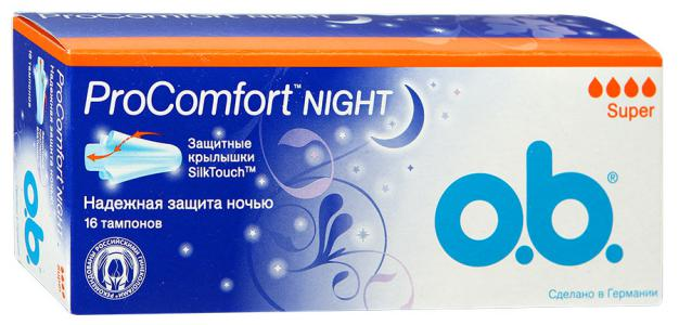 Тампоны o.b. Procomfort Night Super, 16 шт.