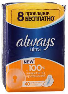Прокладки Always Ultra Normal Plus, 40 шт.
