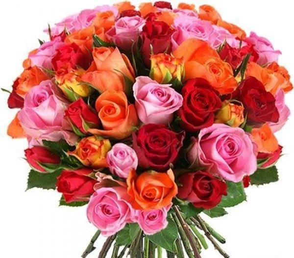 Цветы на 55 лет женщине купить, новослободской