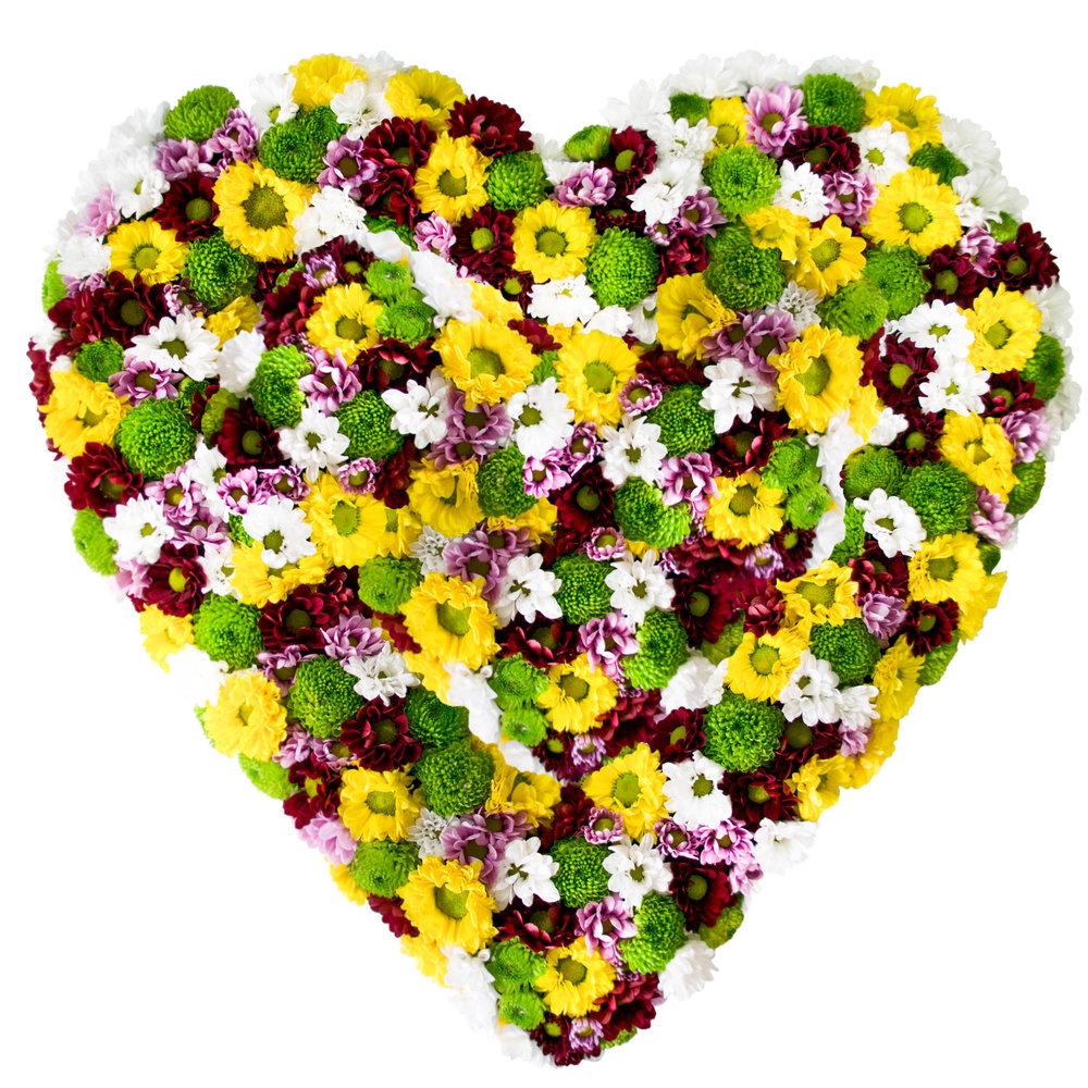 картинка сердце в виде цветка стойка отделяет зону