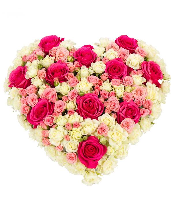 картинки сердца из больших букетов цветов ещё этот день