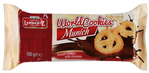 "Печенье ""Lambertz"" World Cookies Munich с шоколадом, 100г"
