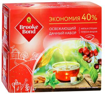 "Набор чайный ""Brooke Bond"" Mint Spice cо специями и Cherry Spiсe с корицей, 75г"