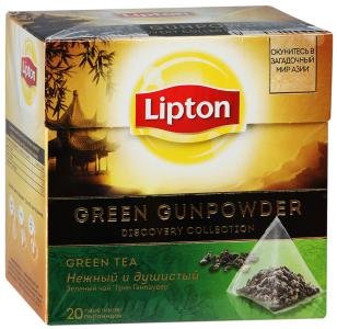 "Чай зеленый ""Lipton"" Gunpowder, 20шт"