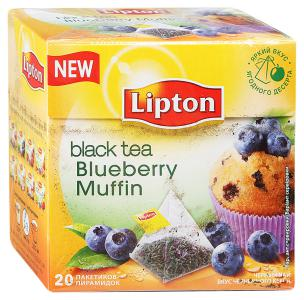 "Чай черный ""Lipton"" Blueberry Muffin, 20шт"
