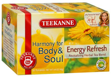 "Чай травяной ""Teekanne"" Body&Soul Energy Refresh, 20шт"