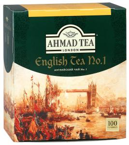 "Чай черный ""Ahmad Tea"" English №1, 100шт"