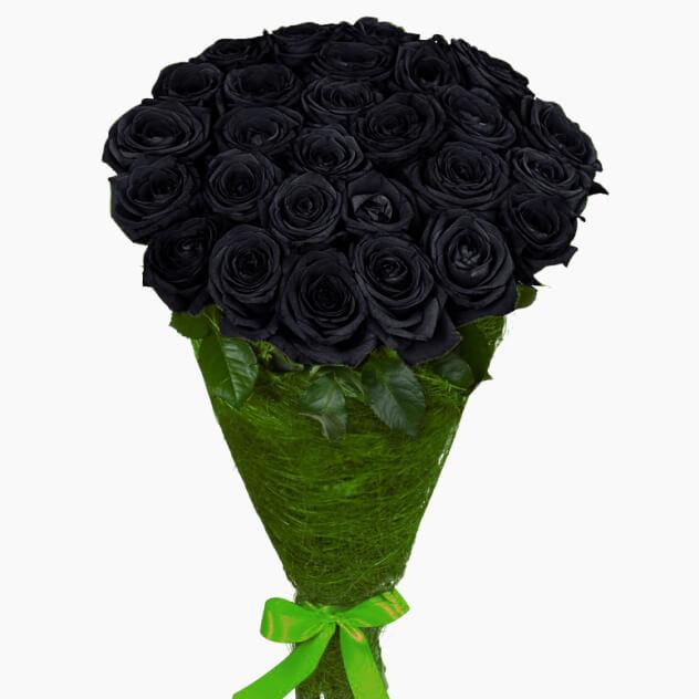 Купить черные розы москва
