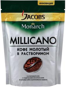 "Кофе ""Jacobs"" Monarch Millicano молотый в растворимом, 75г"