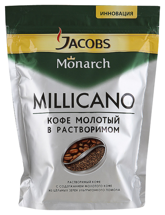 "Кофе ""Jacobs"" Monarch Millicano молотый в растворимом, 150г"