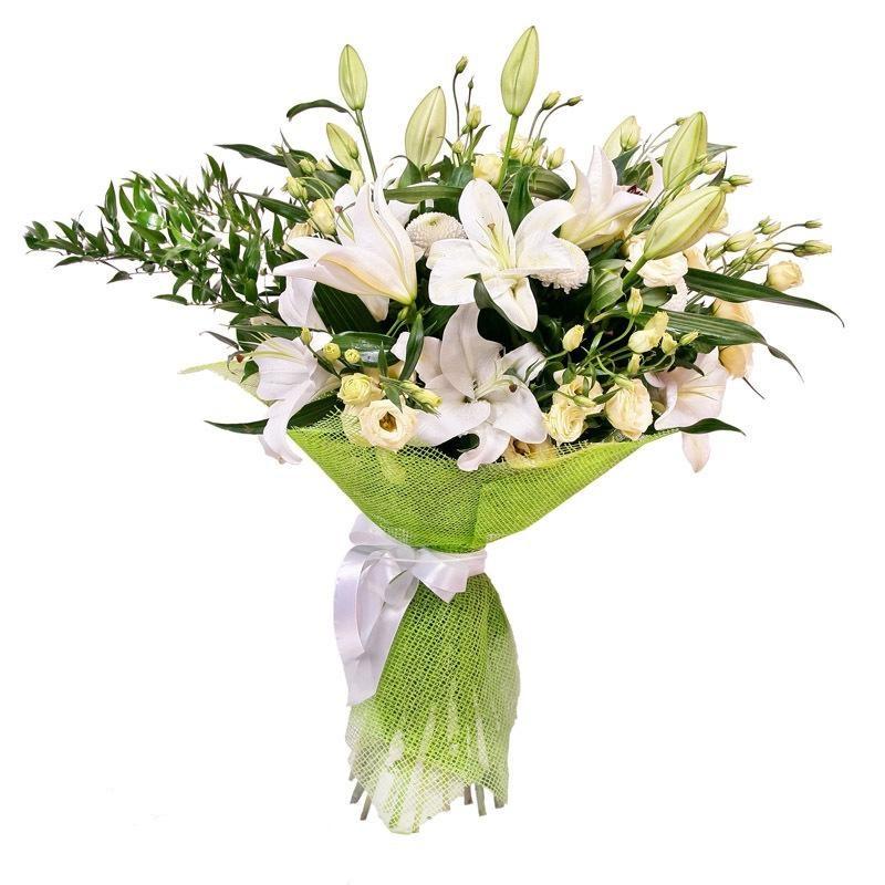 Букеты с лилией и розами