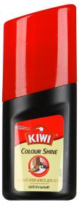 "Крем-блеск жидкий ""Kiwi"" Colour Shine для обуви нейтральный, 50мл"