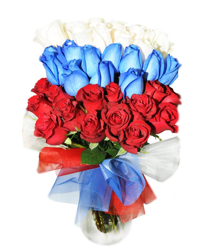 Флаг россии из цветов