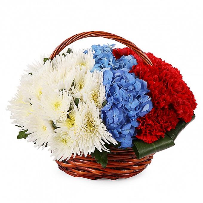 Триколор из цветов