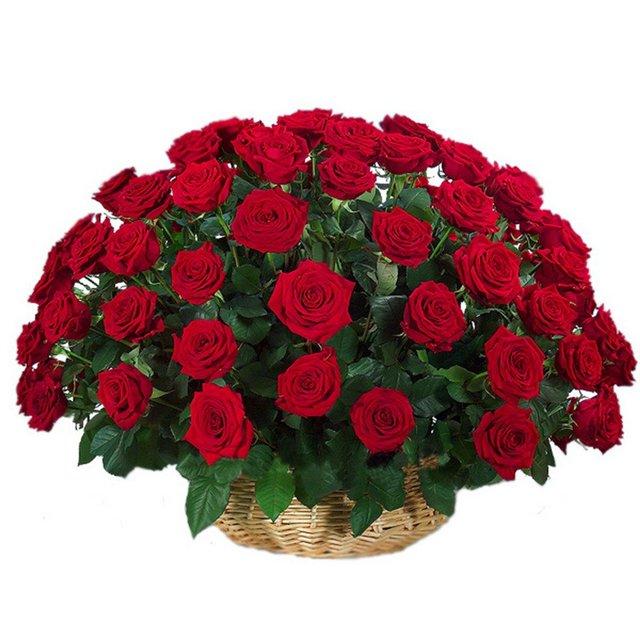 Открытки букеты роз в корзине
